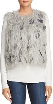 Elie Tahari Lopez Faux Fur and Feather Vest