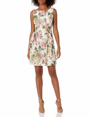 Jessica Howard JessicaHoward Women's Sleeveless A-Line Release Pleat Dress with Bow Back