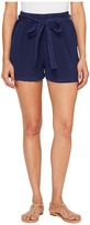 Lucky Brand Tie Front Linen Shorts in American Navy Women's Shorts