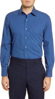Lorenzo Uomo Trim Fit Dot Print Dress Shirt