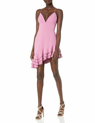 C/Meo Women's Temptation Mini Ruffle Hem Dress