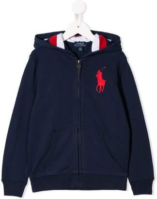 Ralph Lauren Kids logo zip hoodie