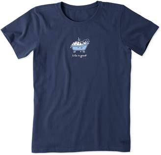 Life is Good Bubble Bath Crusher T-Shirt