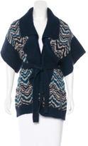 Missoni Zigzag-Patterned Short Sleeve Cardigan