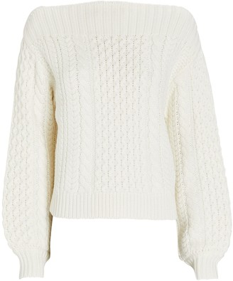 Proenza Schouler White Label Cable Knit Boat Neck Sweater