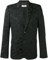 Saint Laurent camouflage pattern blazer - men - Silk/Cotton/Polyamide-8 - 48