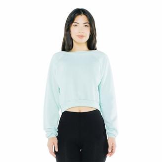 American Apparel Women's Flex Fleece Raglan Cropped Long Sleeve Sweatshirt