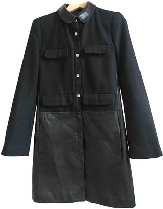 Diane von Furstenberg Black Leather Coat for Women
