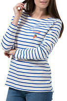 Sugarhill Boutique Brighton Fresh Embroidered Top, White/Blue