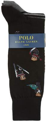 Polo Ralph Lauren Cotton-Blend Socks (Pack of 2)