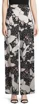 Valentino Women's Pop Butterflies Silk Pajama Pants