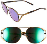 Wildfox Couture Women's Dynasty Deluxe Oversized Metal Frame Sunglasses