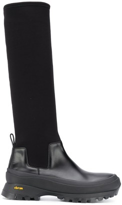 Jil Sander Panelled Knee-High Boots