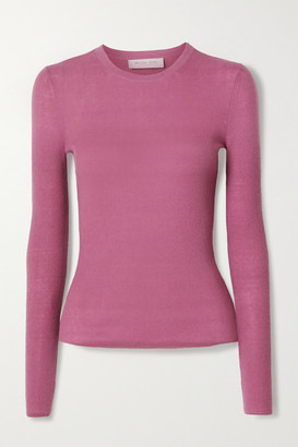Michael Kors Collection Ribbed Cashmere Sweater - Pink