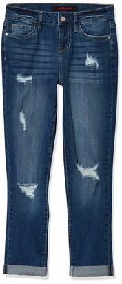 Dollhouse Women's Cuffed Cropped Jeans