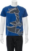 Lanvin Graphic Crew Neck T-Shirt