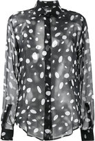 Saint Laurent sheer polka dot blouse