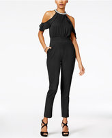 XOXO Juniors' Cold-Shoulder Jumpsuit