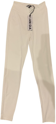 I.AM.GIA White Cotton Trousers