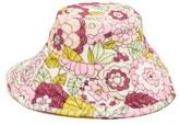 Dodo Bar Or Daria Floral-print Terry Bucket Hat - Womens - Pink Print