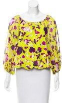 Alice + Olivia Floral Silk Blouse