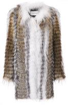 Yves Salomon oversized coat - women - Cotton/Fox Fur/Spandex/Elastane - 34