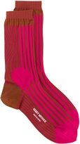 Issey Miyake intarsia stripe socks