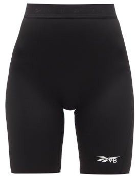 Reebok x Victoria Beckham High-rise Jersey Cycling Shorts - Black