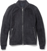 Hugo Boss - Gorin Perforated Suede Bomber Jacket