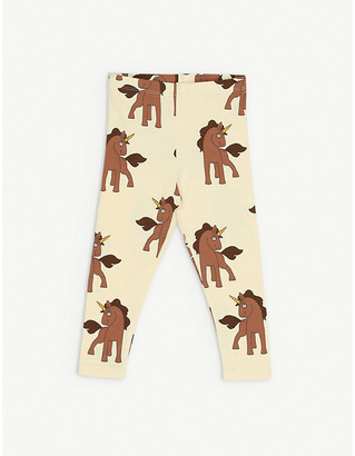 Mini Rodini Unicorn-print organic stretch-cotton leggings 1-18 months