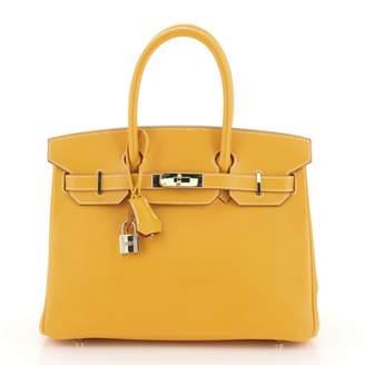 Hermes Yellow Leather Handbags
