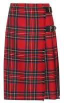 Burberry Check wool skirt