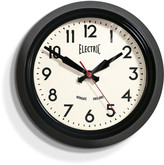 Newgate Clocks - Small Electric Clock - Black