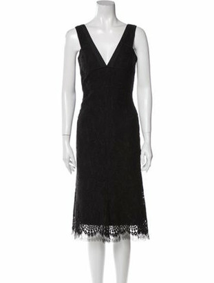 Victoria Beckham Wool Knee-Length Dress Wool