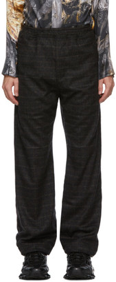 Serapis Brown Wool Grid Lounge Pants