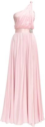 Alexandre Vauthier One Shoulder Silk Satin Gown Dress