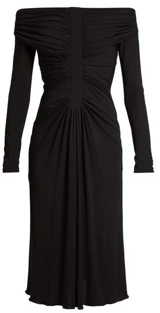 Altuzarra Imogene Off The Shoulder Jersey Dress - Womens - Black