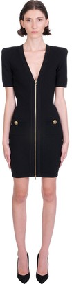 Balmain Dress In Black Viscose