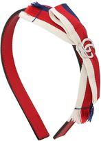 Gucci Nappa Leather Headband W/ Grosgrain Bow