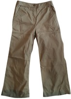 Alexander Wang Khaki Cotton Trousers for Women