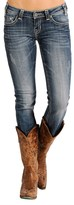 Rock & Roll Cowgirl Angled Feather Rival Skinny Jeans - Low Rise (For Women)