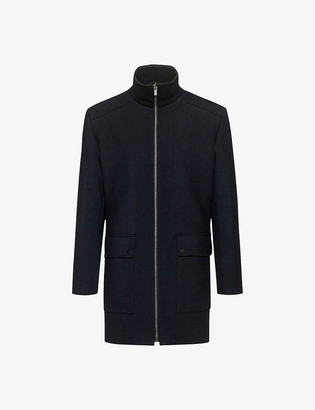 HUGO BOSS Funnel-neck reversible coat