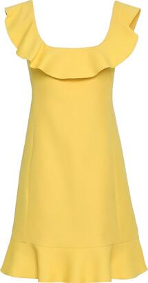 Valentino Ruffled Wool And Silk-blend Mini Dress