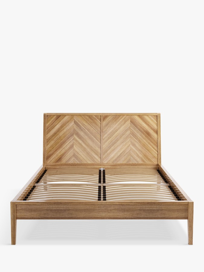 John Lewis & Partners Padma Parquet Bed Frame, Double, FSC Certified (Oak, Birch, Oak Veneer, MDF)