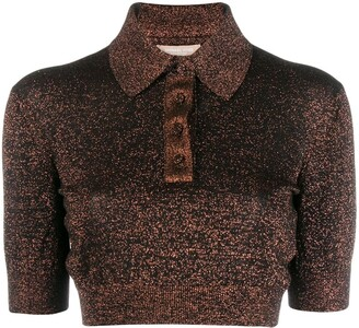 MICHAEL Michael Kors Glitter Detail Polo Shirt