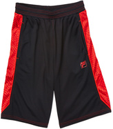 Fila Black & Red Active Shorts - Boys