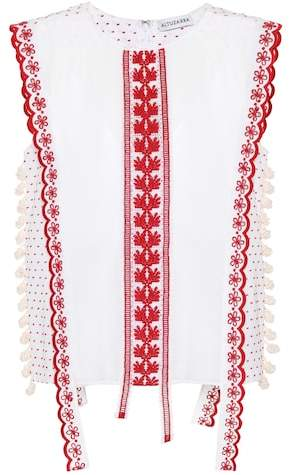 Altuzarra Alma embroidered top