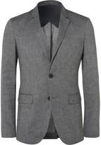 Solid Homme - Grey Linen-blend Hopsack Suit Jacket - Gray