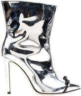 Marco De Vincenzo Silver Patent leather Boots