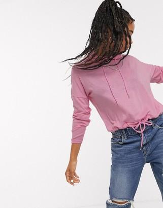 Noisy May Rambo long sleeve pink hoodie